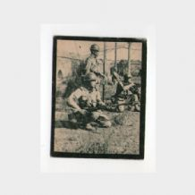 Chinese tobacco cigarette card  WWII China Japan war ? large size military *#816